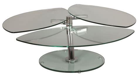 canapé livraison gratuite table basse en verre pétale 3 plateaux table basse verre