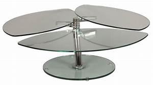 Table Basse En Verre Pas Cher : table basse en verre p tale 3 plateaux table basse verre pas cher ~ Teatrodelosmanantiales.com Idées de Décoration