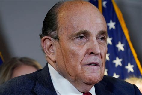 """Rudy giuliani, the personal lawyer to former president donald trump, has had his manhattan home searched by federal investigators. Rudy Giuliani's """"Hair Dye"""" Press Conference: Fox News Carries Live, CNN, MSNBC Skip - Deadline"""