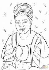 Coloring Sheets Printable Month History Famous Huffpost Angelou Maya Refugees National sketch template