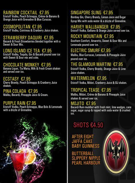 cocktail menu cocktail classes limerick pub in limerick limerick gastro pub