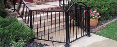 wrought iron fence front patio plus gate all around fencing