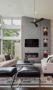 Most, Popular, Transitional, Living, Rooms, Design, Idea