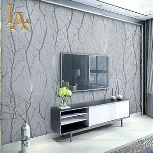 Fashion Abstract Thick Flocked Striped Wallpaper For Walls ...