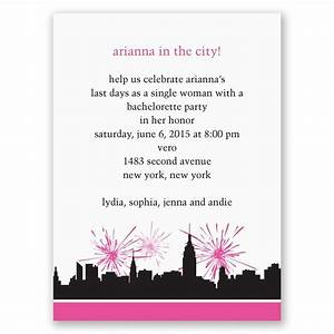city girl bachelorette party invitation invitations by dawn With party city wedding invitations reviews