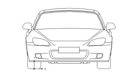 Autocad Drawing Honda S2000 Roadster Automobile Car Dwg