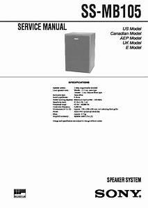 Sony Ss-mb105 Service Manual