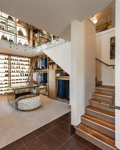 the luxury closet two story walk in closet with built in home office fresh