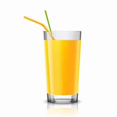 Vector Juice Glass Orange Glasses Half Drink