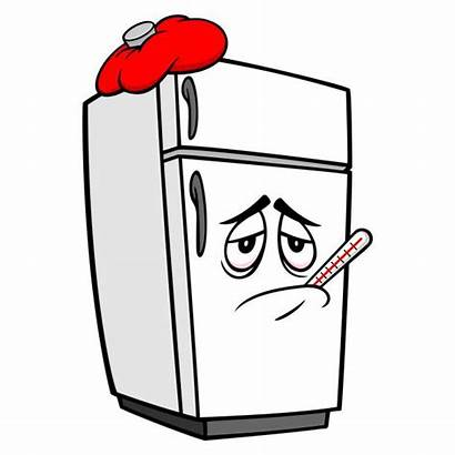 Refrigerator Broken Clip Vector Sick Illustrations Graphics