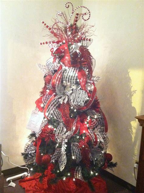 zebra red christmas tree royal design window display