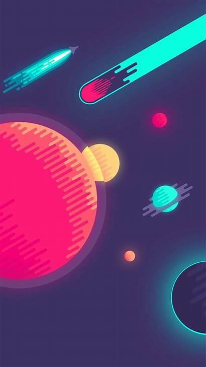 Minimalist Minimalism Backgrounds Planet Iphone Wallpapers Pixelstalk