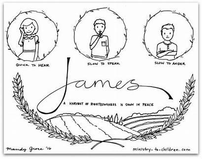 James Coloring Children Bible Pages Tongue Lesson