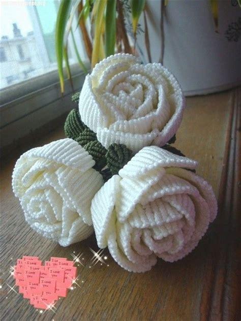 weave beautiful rose   art  macrame