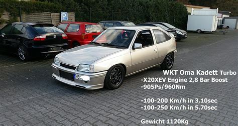 Turbo Kadett by Opel Kadett E 4wd 905hp 960nm X20xev Turbo And Stance