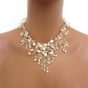 pearl wedding ring sets bridal freshwater pearl necklace set wedding jewelry set swarovski necklace and
