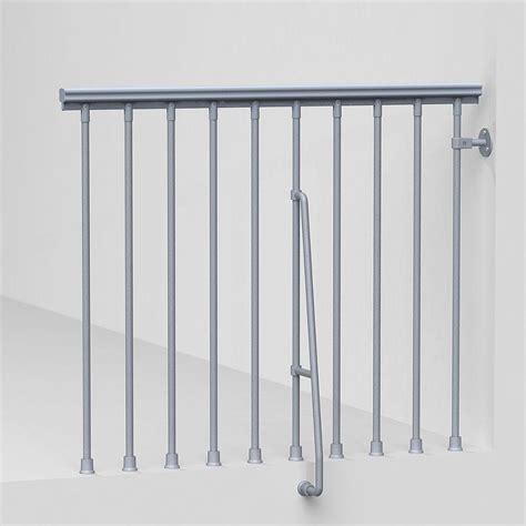 banister kits stair simple axxys wall rail kit axhwr14b0i the home depot