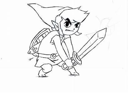 Zelda Coloring Link Ausmalbilder Breath Wild Legend