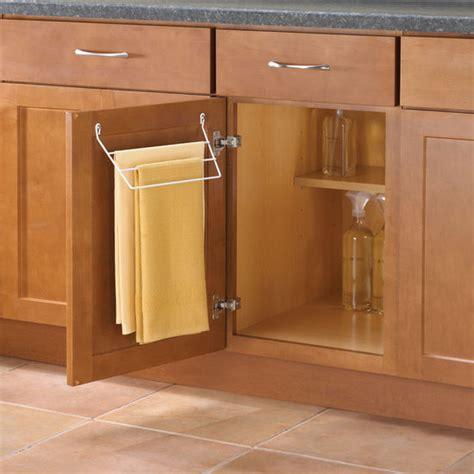 kitchen cabinet towel bar knape vogt door mount towel rack for kitchen or bathroom