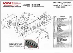 Commercial Garage Door Opener Model Gd-03h