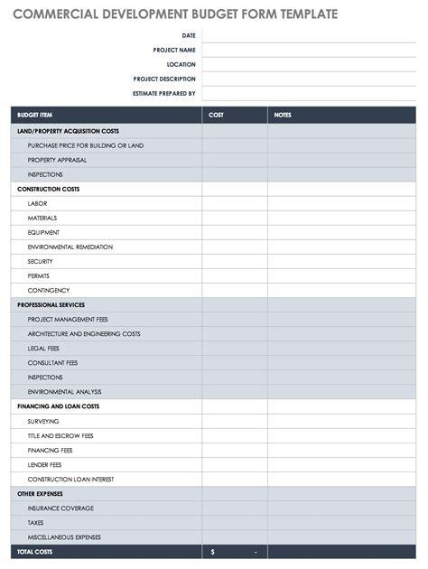 construction budget templates smartsheet