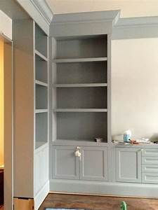 best 25 painted built ins ideas on pinterest living With best brand of paint for kitchen cabinets with cut out wall art