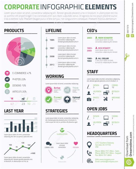 Infographic Resume Builder by Corporate Infographic Resume Elements Template