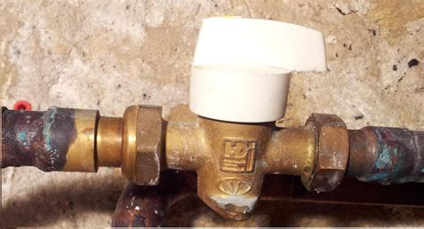 raccords pour vanne gaz de ville