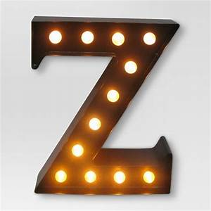 metal marquee letter small quotzquot led black threshold target With marquee letter z