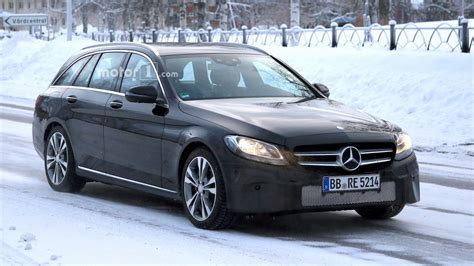 Mercedes C Class Estate Photo by 2018 Mercedes C Class Estate Facelift Spied With New Touchpad