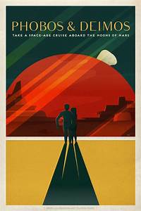 SpaceX's retro space travel posters will seduce you to Mars