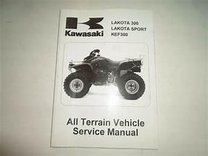 1999 2000 2001 2002 Kawasaki Lakota 300 Sport Kef300 Atv