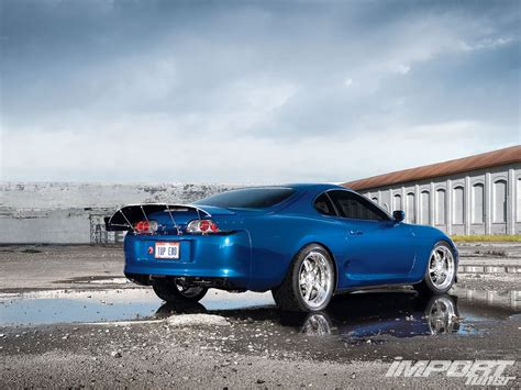 Toyota Supra, Toyota, Car, Blue Cars Wallpapers Hd