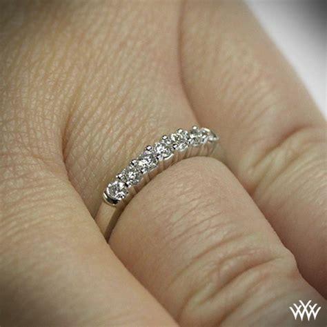 seven stone shared prong diamond wedding band 397