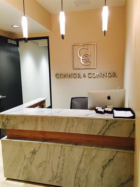 Connor and Connor Law Offices Reception Desk | Law office ...