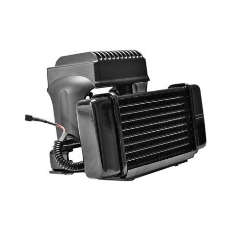 jagg oil cooler with fan jagg horizontal low mount fan assisted oil cooler kit for