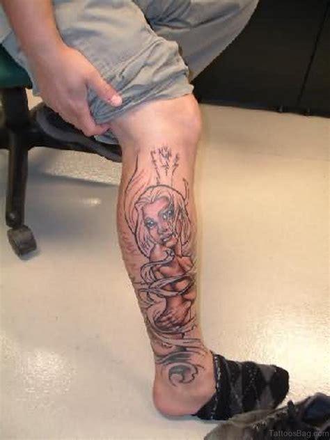 loveable angel tattoos  leg