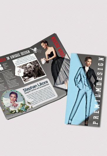 clothing design tri fold psd brochure template
