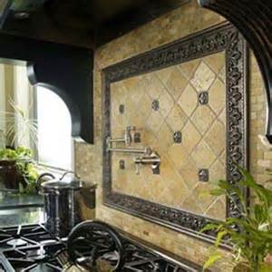kitchen backsplash medallion interesting functional and decorative kitchen backsplash