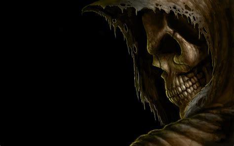 Grim reaper death dark skull hood eyes evil scary spooky