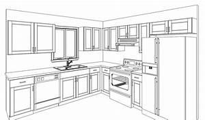 How To Draw Kitchen Diagram