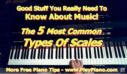 Types Scales Musical Common Scale Piano Adults