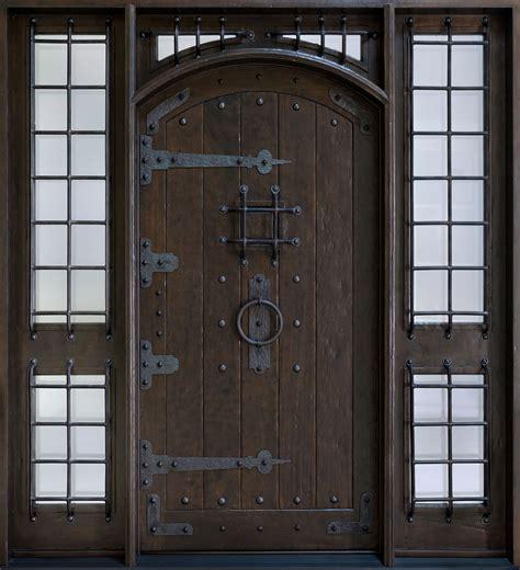 rustic custom front entry doors custom wood doors