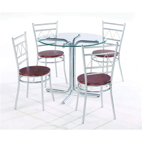 glass table with 4 chairs inexpensive modern glass top dining tables
