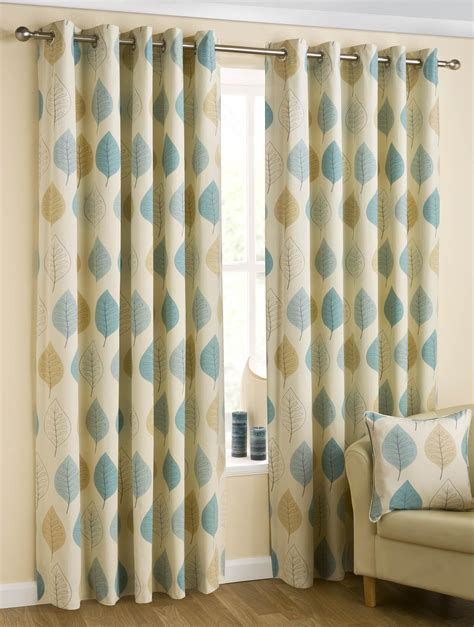 leaves eyelet curtains duck egg free uk delivery