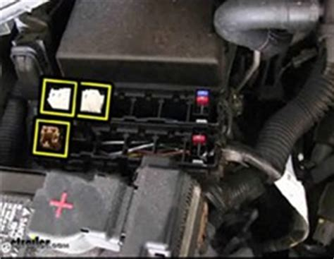 Picture Of Nissan Armada Fuse Box by Fuse Box Location For Installation Of Curt Relay Kit For