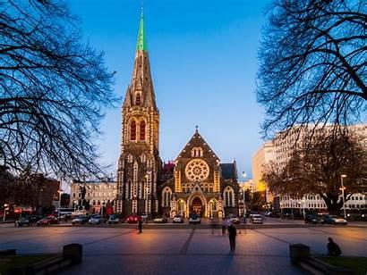 Christchurch Cathedral Zealand Church Christ Nz Australia