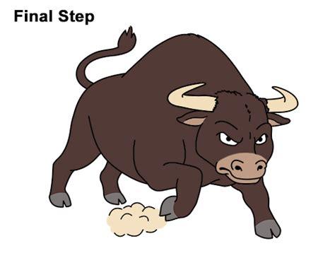 draw  bull cartoon