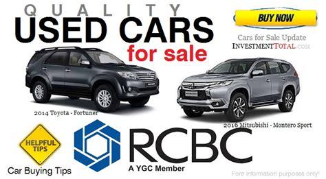 cars  sale  rcbc philippines