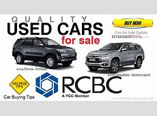186 Used Cars for Sale of RCBC Philippines 2014 2017
